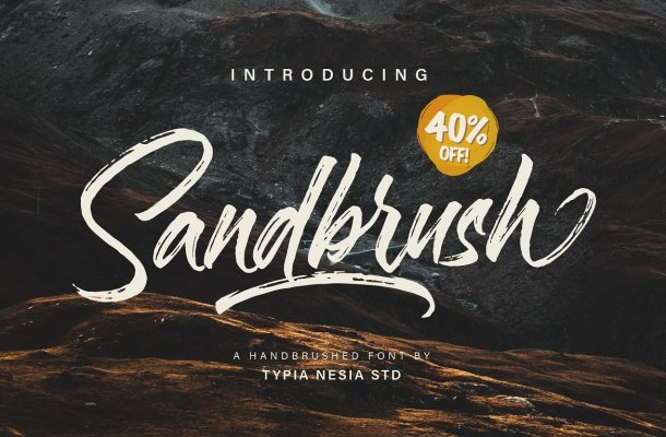 Sandbrush Brush Font Free
