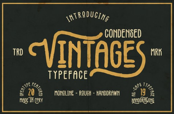 Vintages Typeface Free