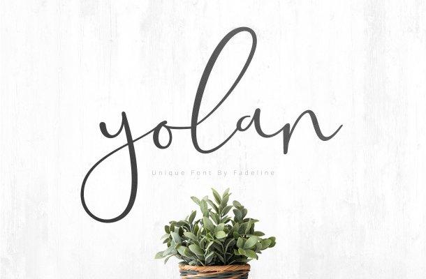 Yolan Script Font Free