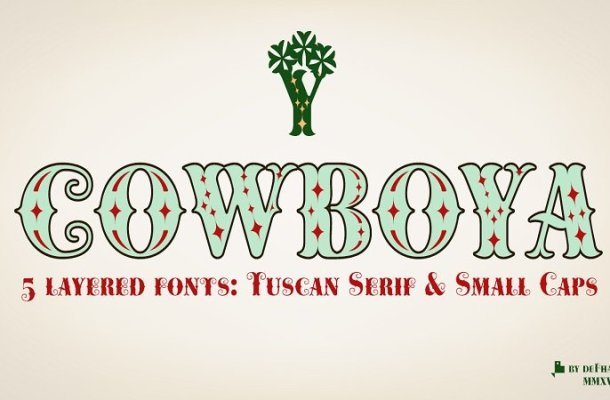Cowboya Tuscan Font Free