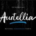 Austellia Handbrush Font Free