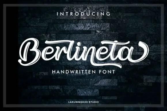 Berlineta Script Font Free