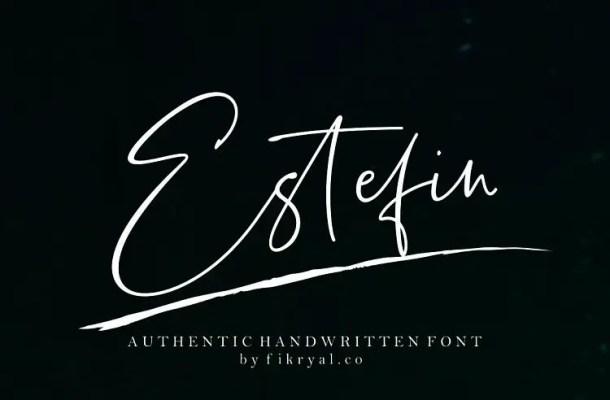 Estefin Script Font Free