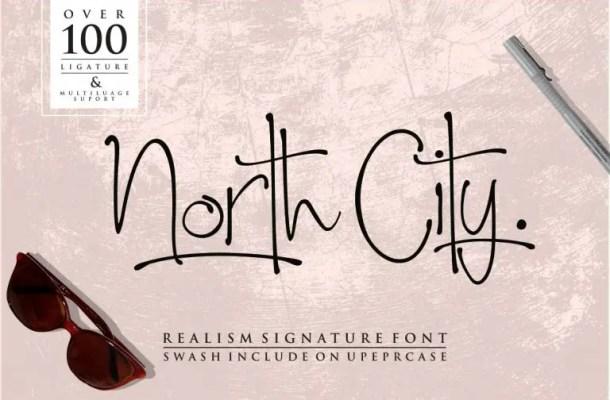 North City Script Font Free