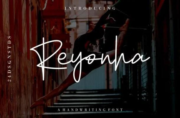 Reyonha Handwriting Font Free