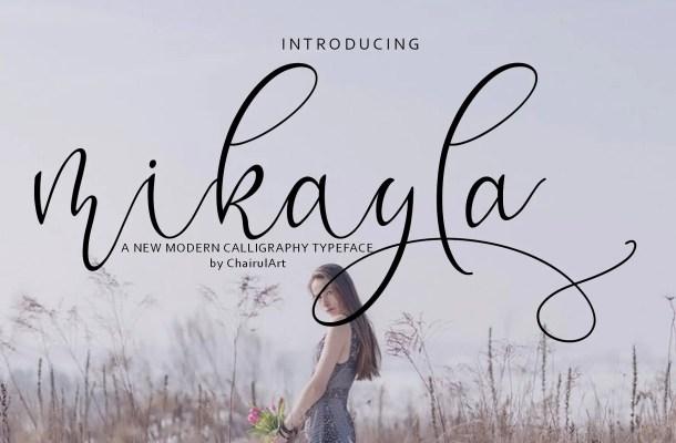 Mikayla Script Font Free