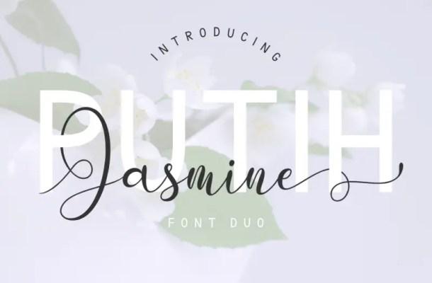 Putih Jasmine Font Duo