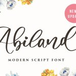 Abiland Calligraphy Font