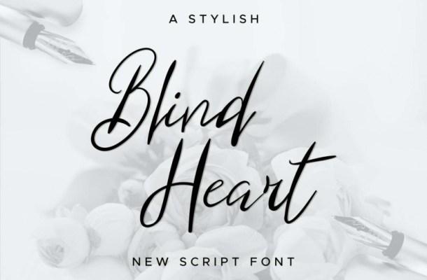 Blind Heart Script Font Free