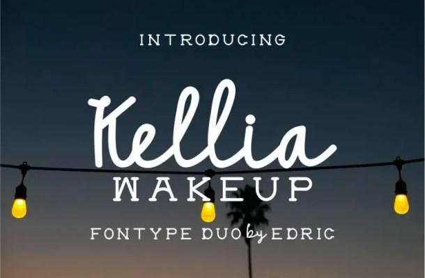 Kellia Wakeup Font Duo Free