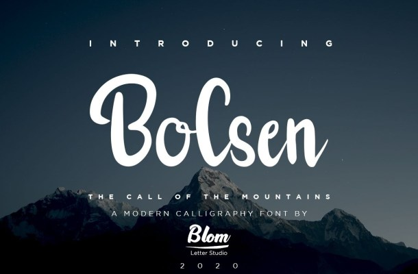Bolsen Script Font