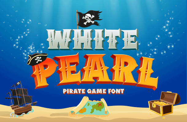 White Pearl Display Font