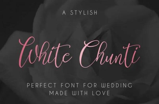 WhiteChunti Script Font Free