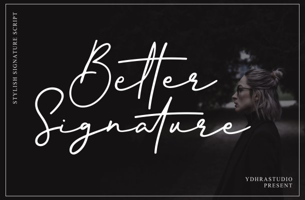 Better Signature Font Free