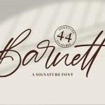 Barnett Signature Font
