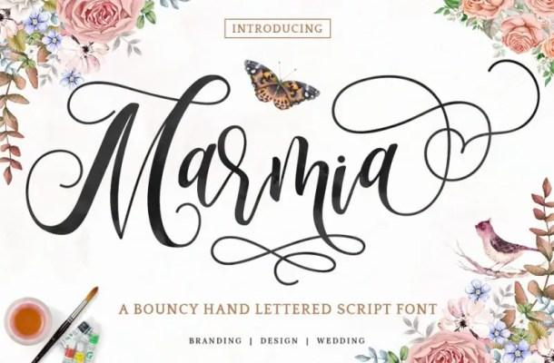 Marmia Calligraphy Font Free