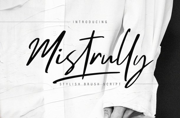 Mistrully Brush Script Font