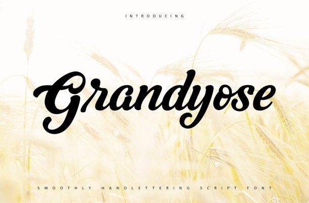 Grandyose Smoothly Script Handwritten Font