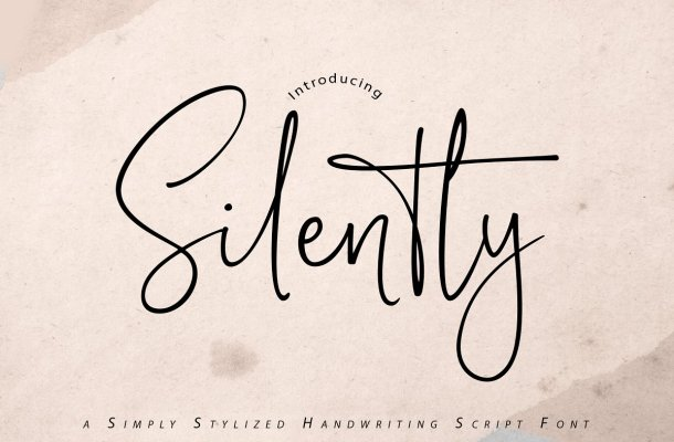Silently Handwriting Script Font