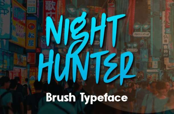 Night Hunter Display font
