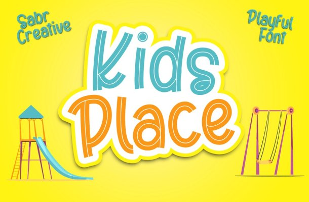 Kids Place Display Font