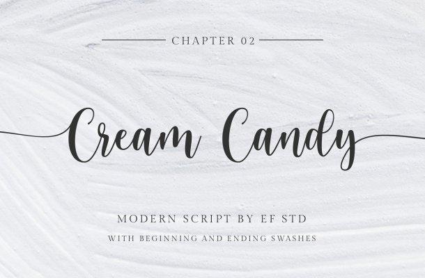 Cream Candy Modern Script Font