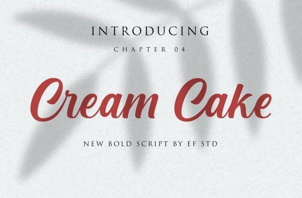 Cream Cake Script Font