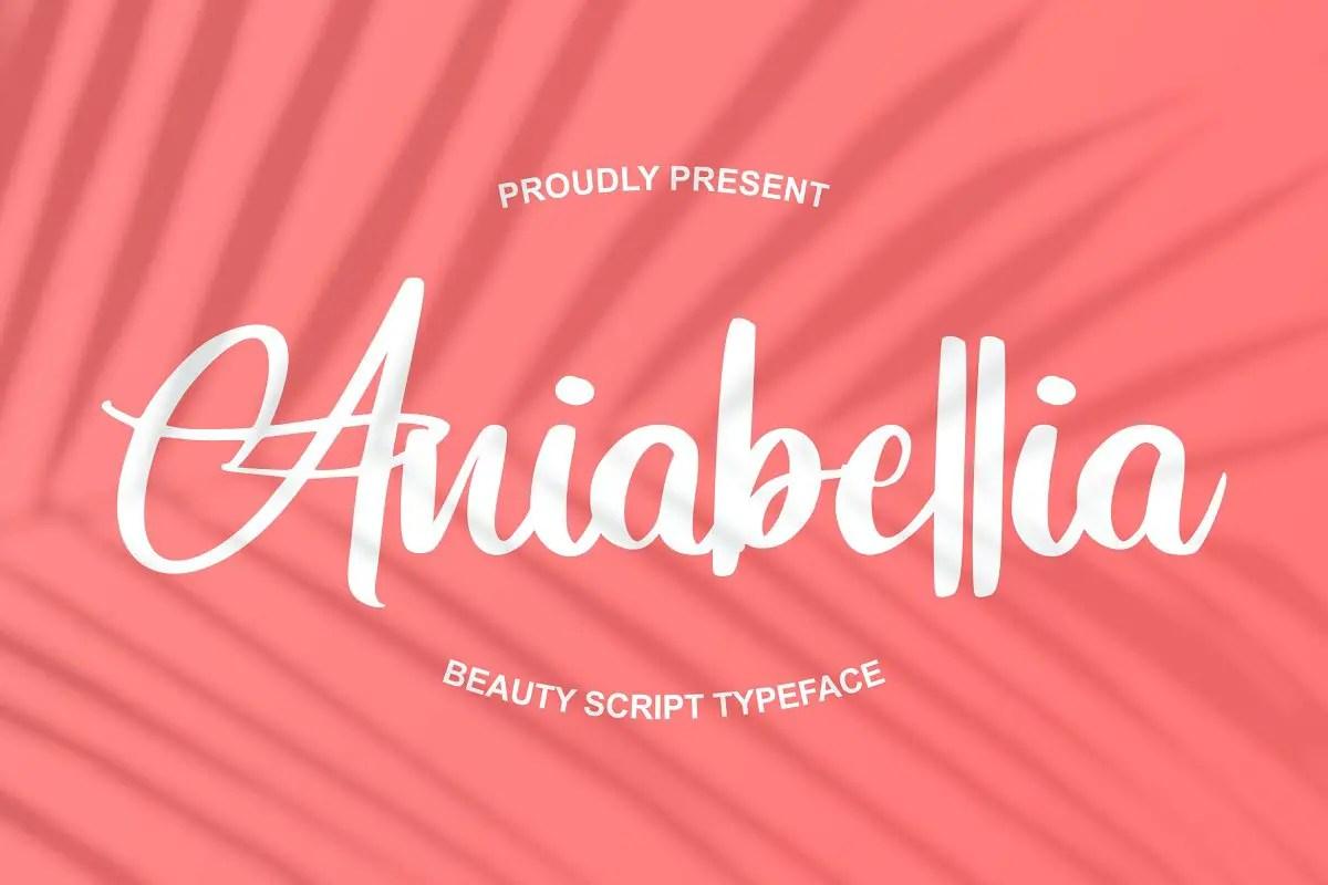 Aniabellia Beauty Script Typeface-1