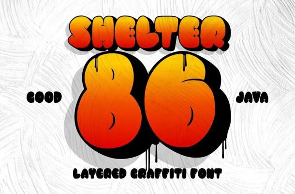 SHELTER 86 Bold Graffiti Font