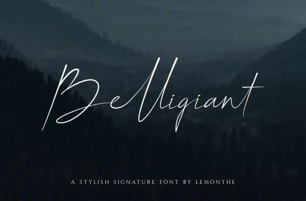 Belligiant Script Font