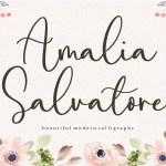 Amalia Salvatore Calligraphy Script Font