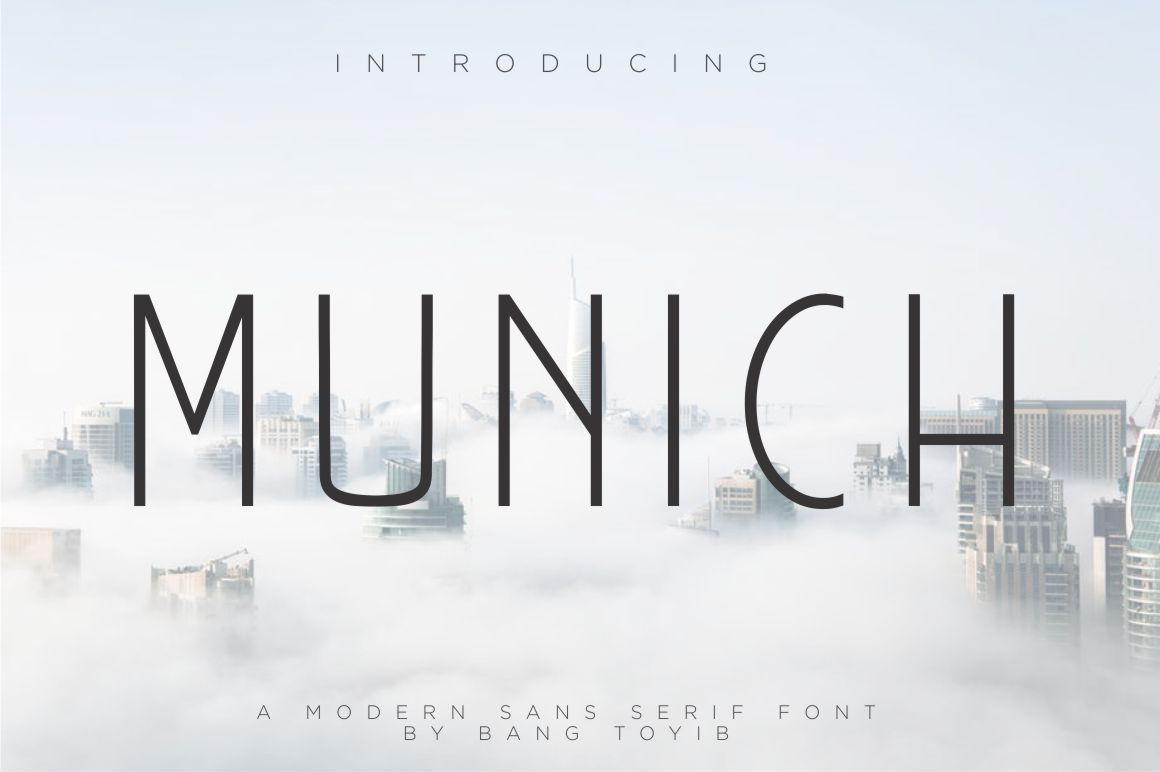 Munich – Modern Sans Serif01