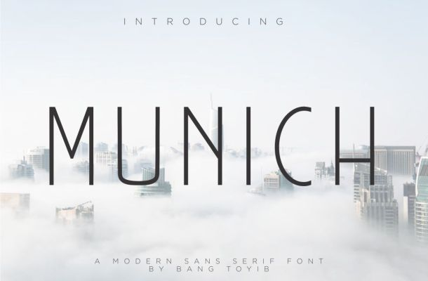 Munich Modern Sans Serif Font
