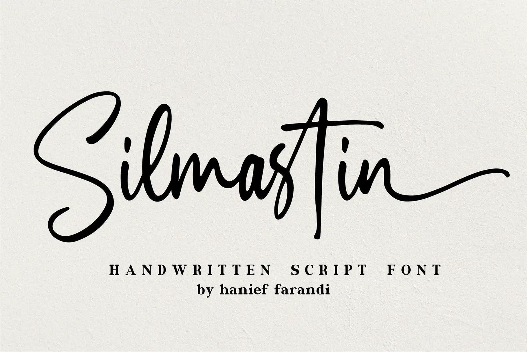 Silmastin - Handwritten Script Font