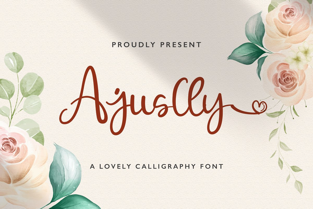 Ajuslly Modern Calligraphy Font01