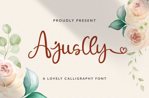 Ajuslly Modern Calligraphy Font