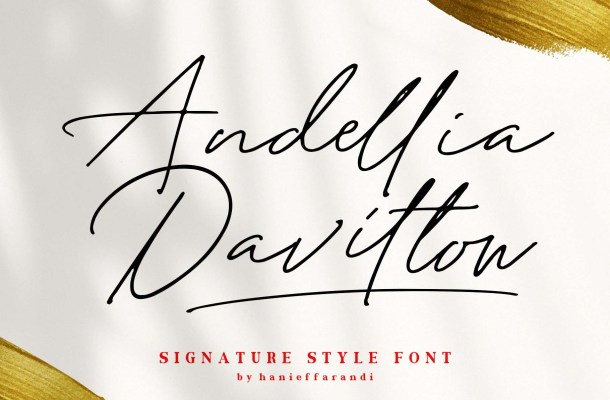 Andellia Davilton Handwritten Font