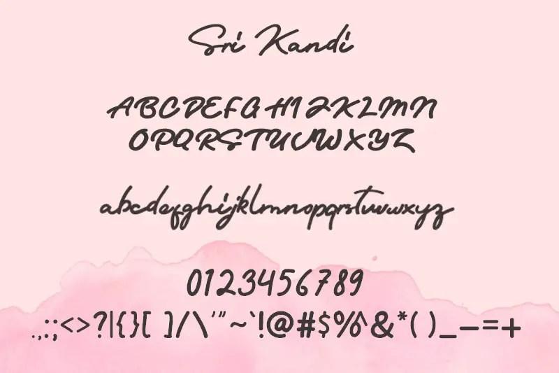 Sri Kandi Script Font