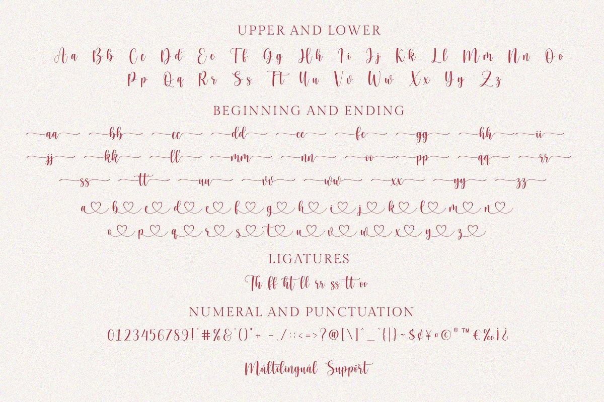 Hello Honey script font03