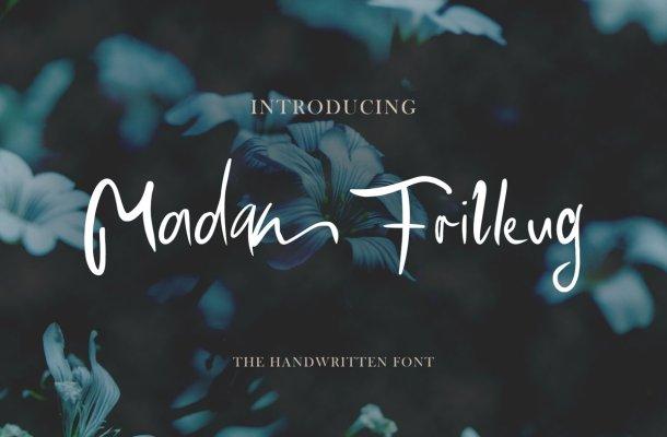 Madam Frilleug Script Handwritten Font