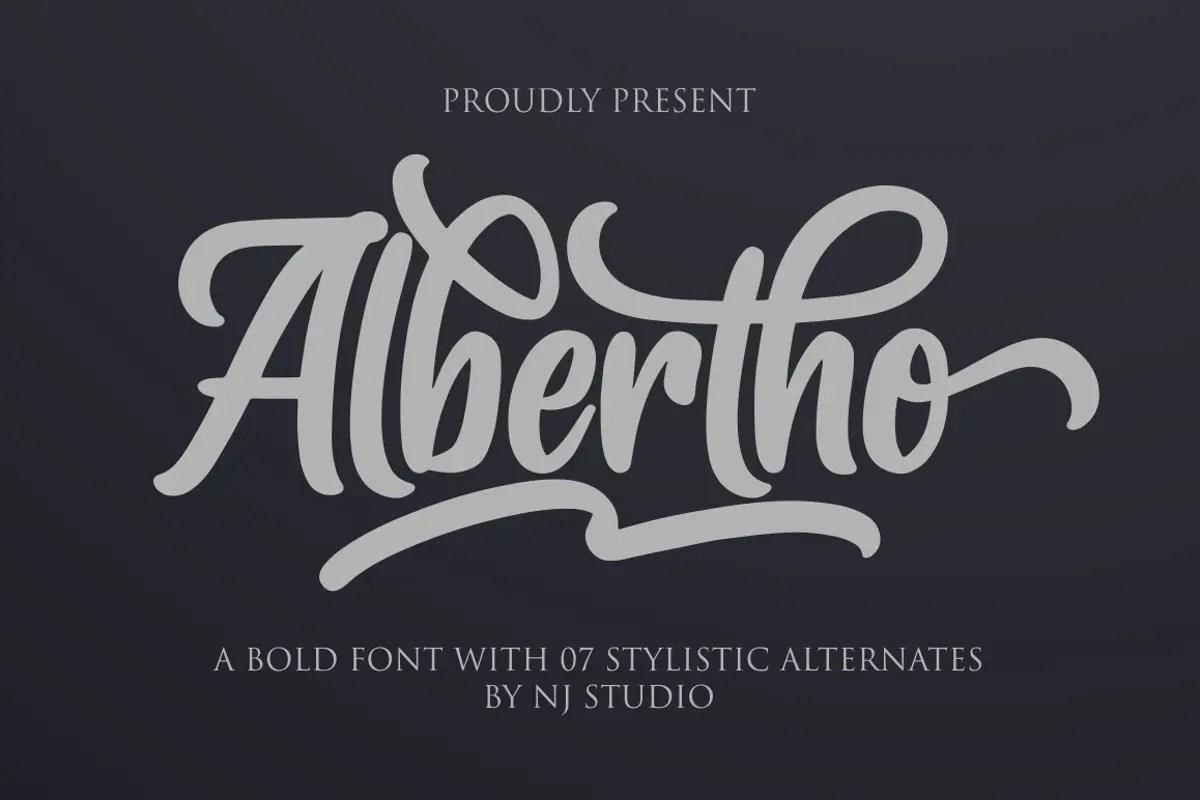 Albertho Bold Script Font-1