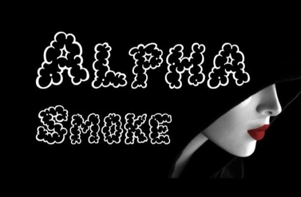 Alpha Smoke Fancy Font