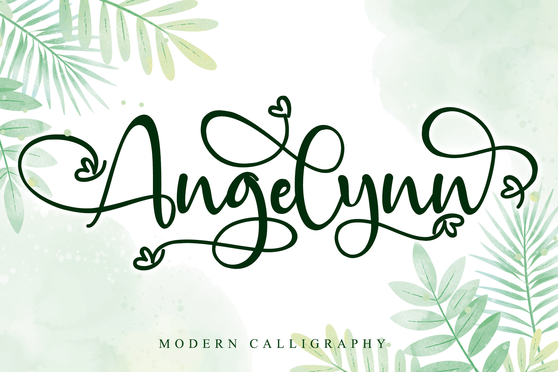 Angelynn Modern Calligraphy Script Font-1