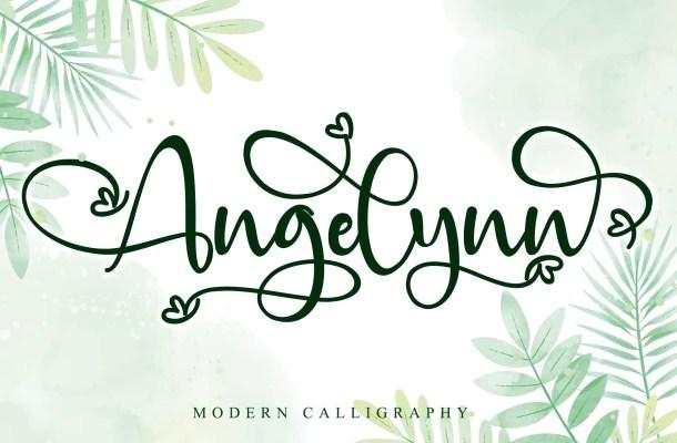 Angelynn Modern Calligraphy Script Font