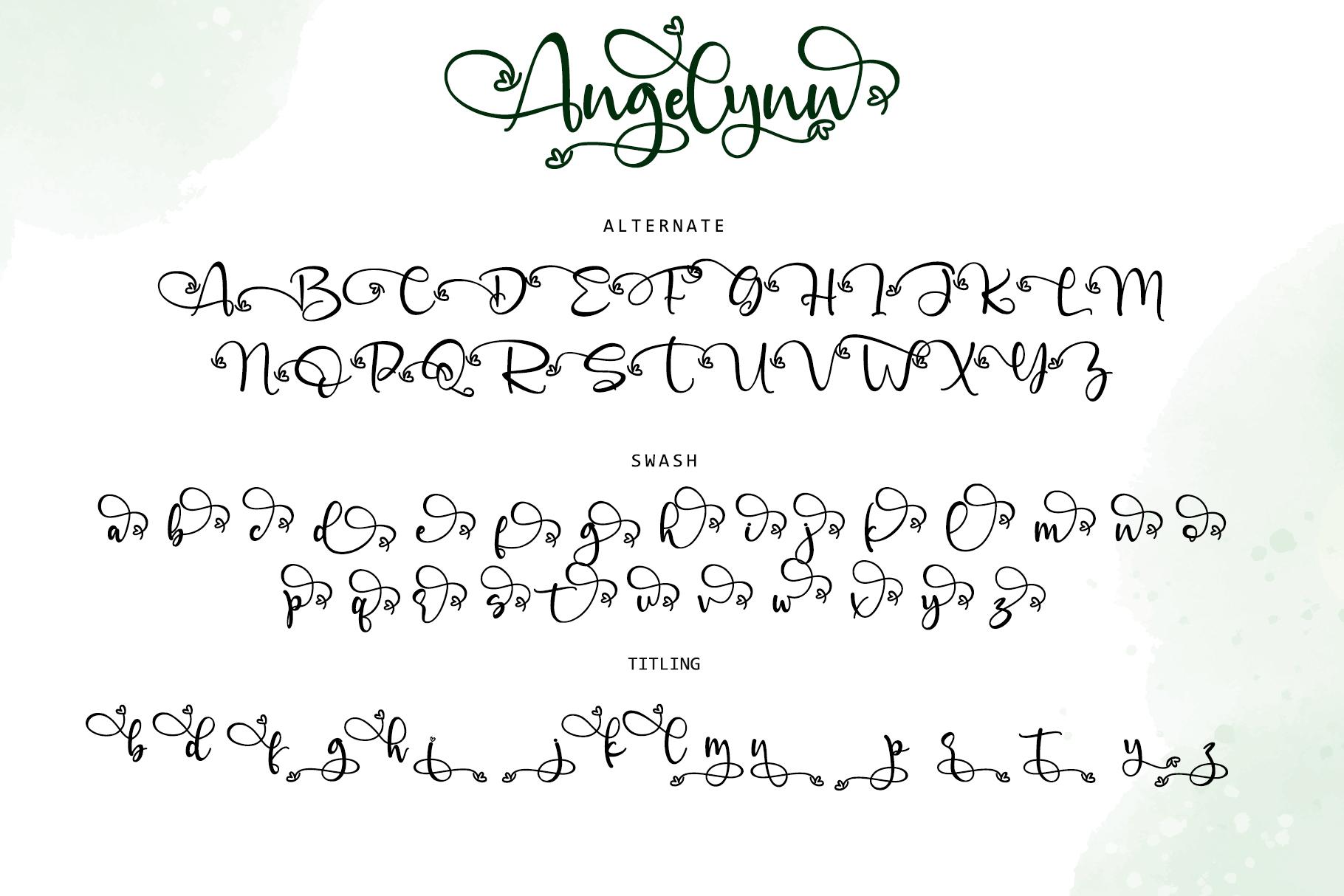 Angelynn Modern Calligraphy Script Font-3