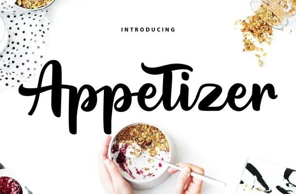 Appetizer Modern Script Font