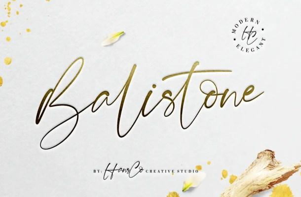 Balistone Handwritten Font