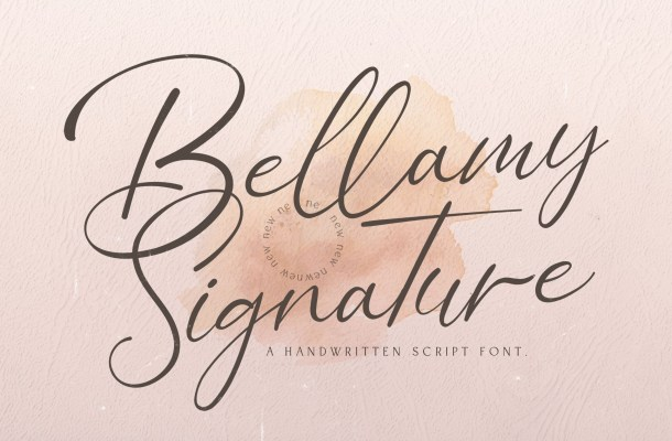 Bellamy Signature Handwritten Font