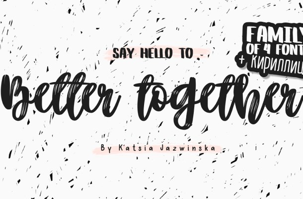 Better Together Script Font