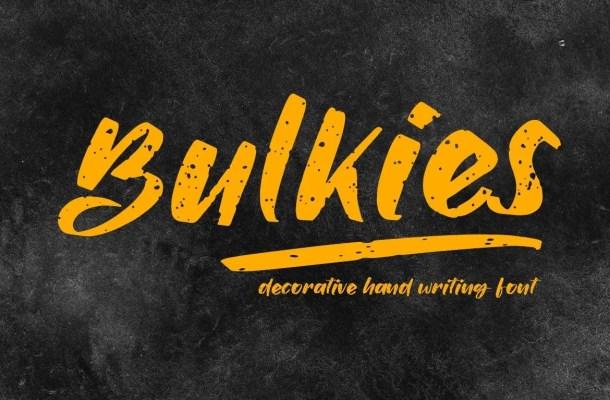 Bulkies Regular Script Font